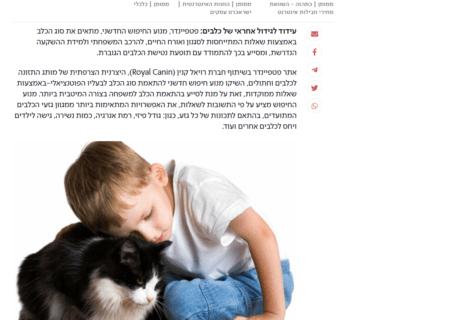 כתבה בישראל היום על מנוע החיפוש של פטפיינדר